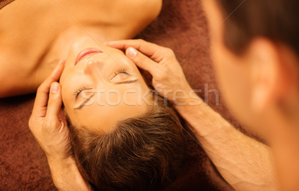 Cara masaje spa salón mujer Foto stock © Nejron