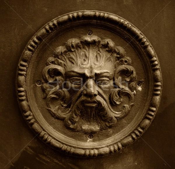 Starożytnych rzeźba twarz oczy projektu sztuki Zdjęcia stock © Nejron