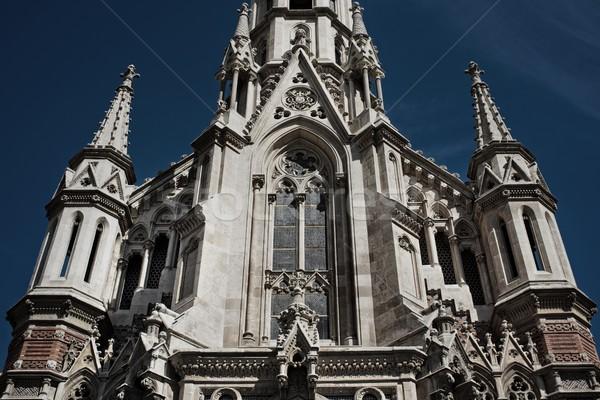 Gotischen Kathedrale Barcelona Stadt Tür Fenster Stock foto © Nejron