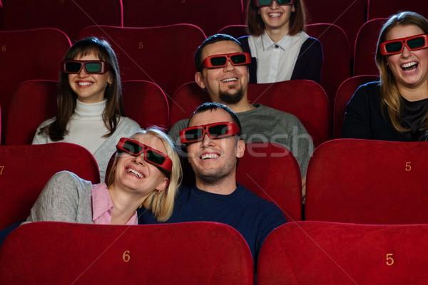 Gruppe lächelnd Menschen beobachten Film Kino Stock foto © Nejron
