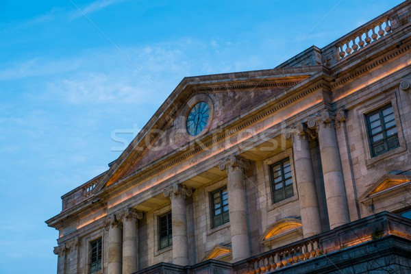 Old building with clock on facade Stock photo © Nejron