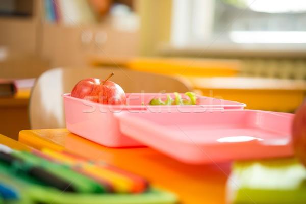 étel konténer alma saláta osztályterem háttér Stock fotó © Nejron