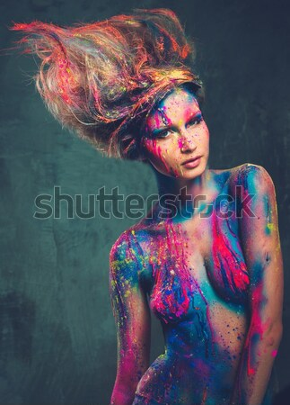 Muse creativo body art donna Foto d'archivio © Nejron