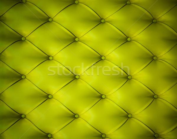 Green button-tufted leather background Stock photo © Nejron