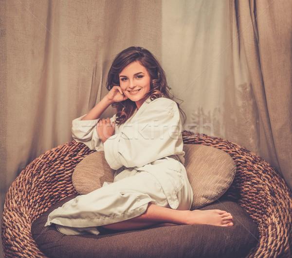 美人 リラックス バスローブ スパ サロン 女性 ストックフォト © Nejron