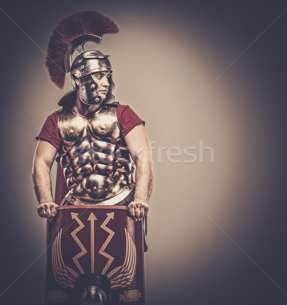 Legionary soldier with shield Stock photo © Nejron