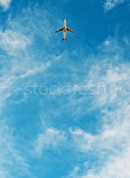 самолет Flying Blue Sky скорости лет белый Сток-фото © Nejron