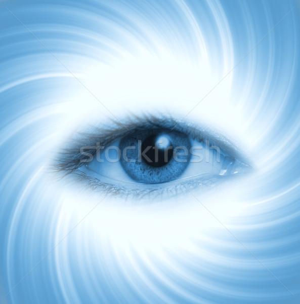 человека глаза синий аннотация лице свет Сток-фото © Nejron
