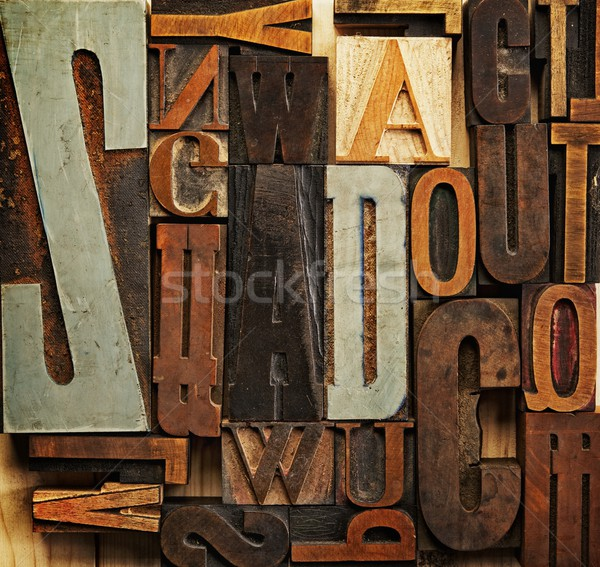 Vintage letter prints Stock photo © Nejron