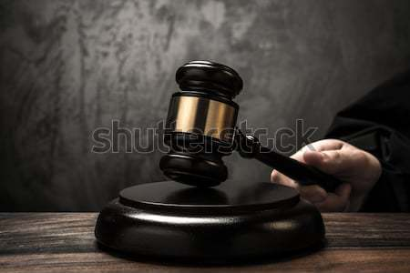 ストックフォト: 手 · 木製 · ハンマー · 木材 · 法