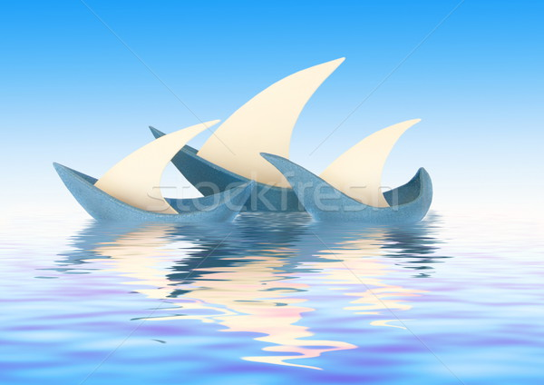 Three sailing vessels Stock photo © Nejron