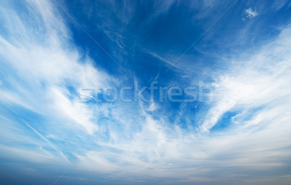 Blauwe hemel pluizig wolken abstract schoonheid ruimte Stockfoto © Nejron