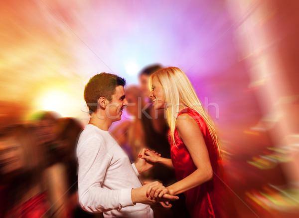 Feliz Pareja club nocturno nina amor danza Foto stock © Nejron