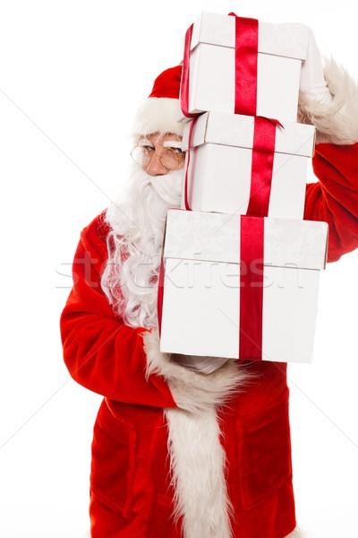 Kerstman geïsoleerd witte gezicht man Stockfoto © Nejron