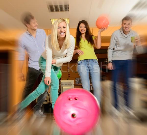 ストックフォト: グループ · 4 · 小さな · 笑みを浮かべて · 人 · 演奏