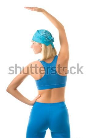 Beautiful sporty woman isolated on white background Stock photo © Nejron