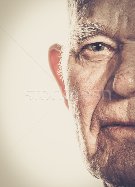 Senior man face close-up Stock photo © Nejron