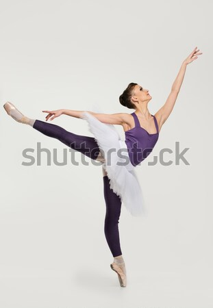 Young angry fed up ballerina dancer sitting on a floor  Stock photo © Nejron