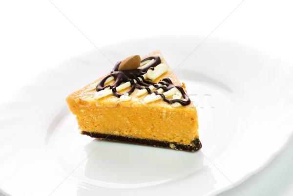 Nut cake isolated on white background Stock photo © Nejron