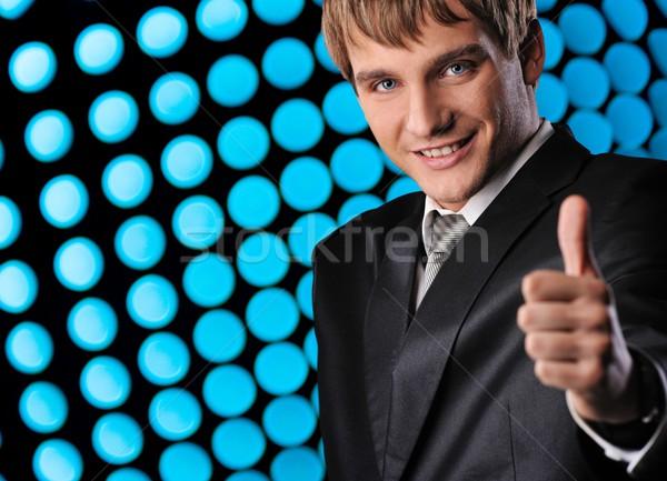 Foto stock: Afortunado · empresario · resumen · negocios · sonrisa · cara