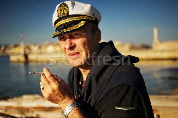 Marynarz wody morza dymu niebieski Zdjęcia stock © Nejron