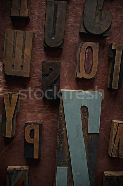 Vintage letters on wooden background Stock photo © Nejron
