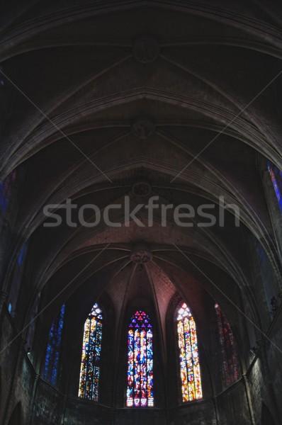 Dentro catedral Barcelona ciudad construcción Foto stock © Nejron