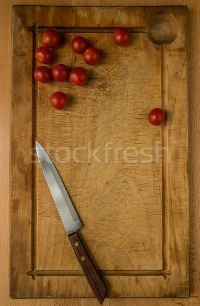 Yemek hazırlık süreç sağlık restoran tablo Stok fotoğraf © Nejron