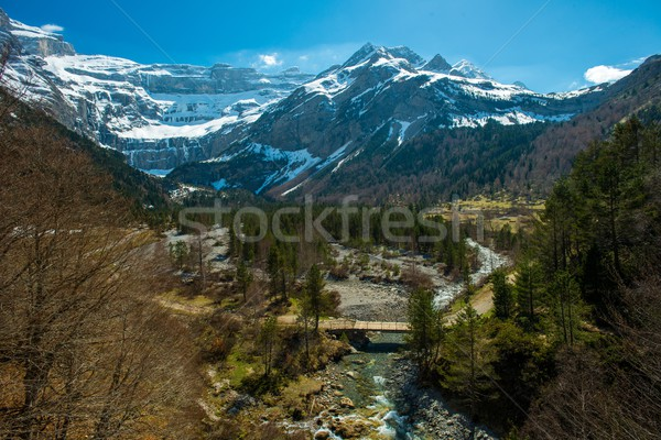 Fast river in Cirque de Gavarnie valley, France Stock photo © Nejron