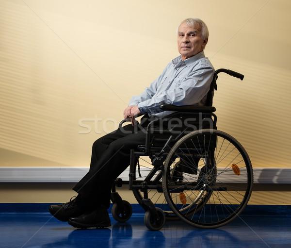 Thoughtful senior man in wheelchair in nursing home  Stock photo © Nejron