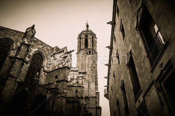 Santa Maria del Mar cathedral in Barcelona, Spain Stock photo © Nejron