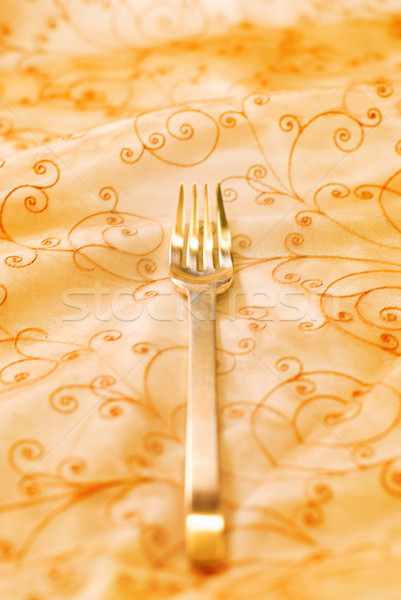 Royal luxury golden fork (shallow DoF) Stock photo © Nejron