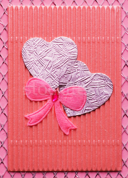 Handmade Valentine card Stock photo © Nejron