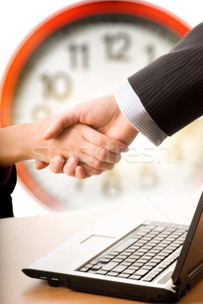üzletember üzletasszony készít egyezmény Stock fotó © Nejron