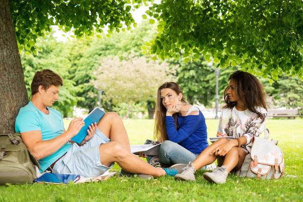 Csoport többnemzetiségű diákok végső vizsgák város Stock fotó © Nejron