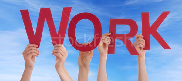 Handen werk hemel veel woord Stockfoto © Nelosa