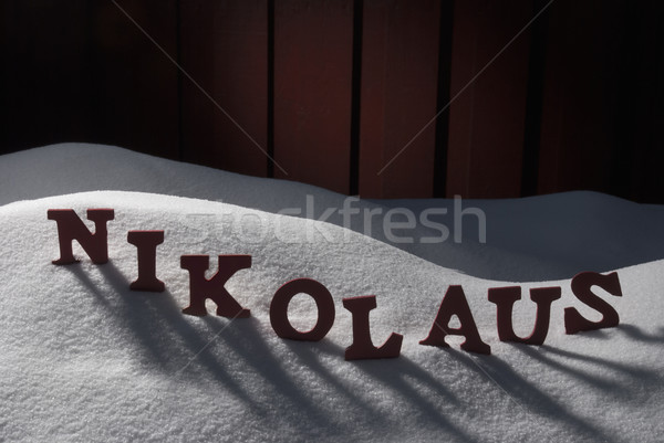 German Nikolaus Means Santa Claus On Snow Stock photo © Nelosa