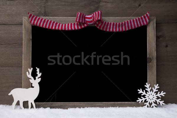 Noel tahta kırmızı döngü uzay kar Stok fotoğraf © Nelosa