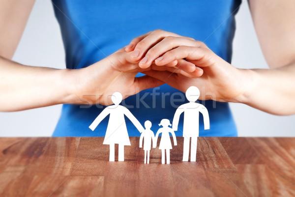 protecting a family Stock photo © Nelosa