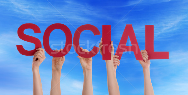 People Holding Social in the Sky Stock photo © Nelosa
