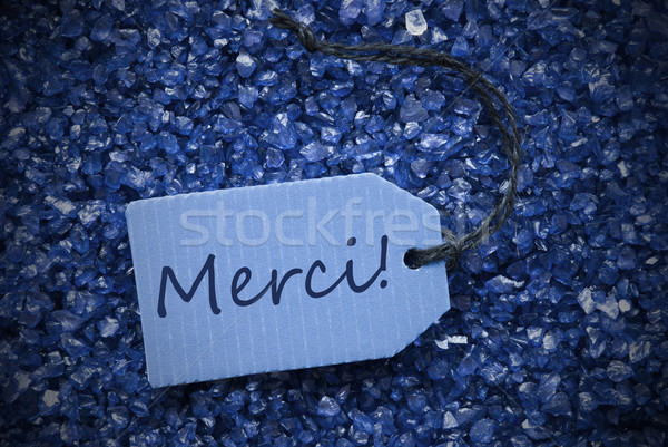 Purple Stones With Label Merci Means Thank You Stock photo © Nelosa