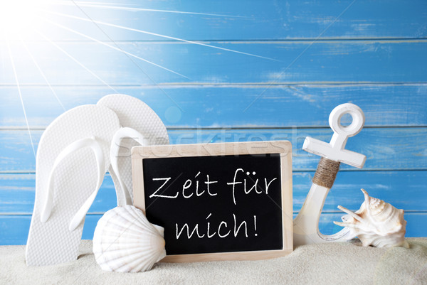 Sunny Card With Zeit Fuer Mich Means Time For Me Stock photo © Nelosa