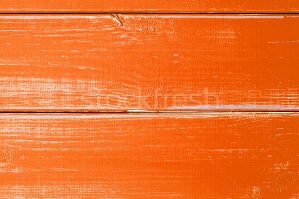 Orange Wooden Slats Background With Copy Space Stock photo © Nelosa