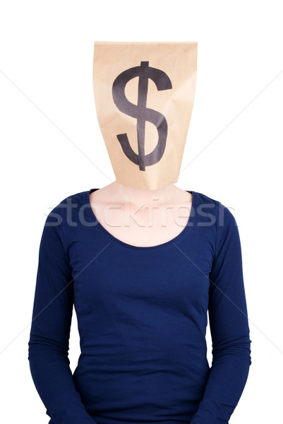paper bag head with dollar sign Stock photo © Nelosa