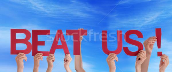 Pessoas bater céu muitos palavras Foto stock © Nelosa