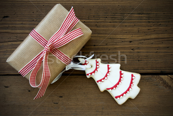 Gift With Christmas Tree Stock photo © Nelosa