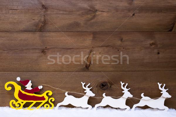 Дед Мороз северный олень снега копия пространства Рождества украшение Сток-фото © Nelosa