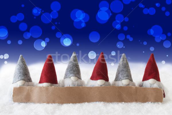 синий bokeh копия пространства Label реклама Рождества Сток-фото © Nelosa