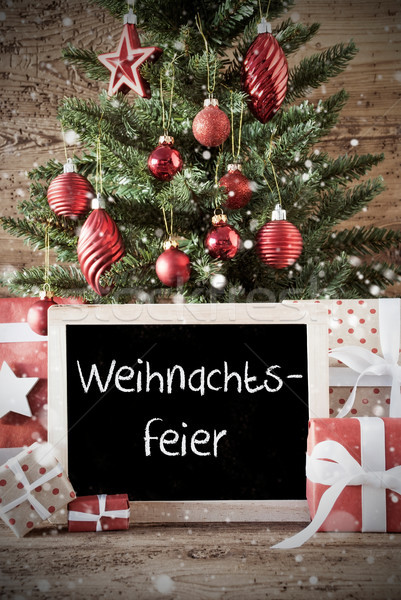 Nostalgic Tree With Weihnachtsfeier Means Christmas Party Stock photo © Nelosa
