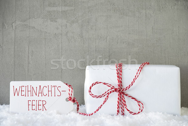 One Gift, Urban Cement Background, Weihnachtsfeier Means Christmas Party Stock photo © Nelosa